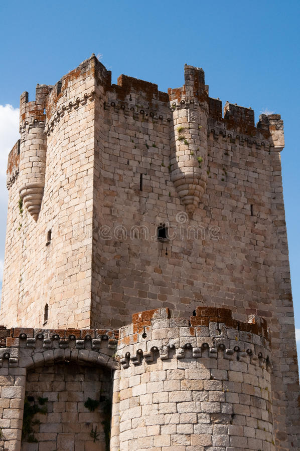 Tower of the castle of the Dukes of Alba in Coria. Tower of the castle of the Dukes of Alba, Coria, Extremadura (Spain stock photos