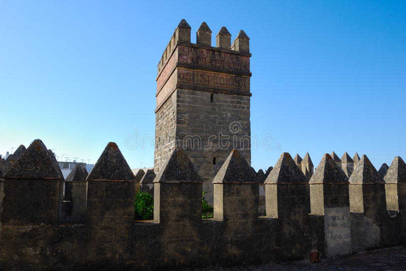 Tower Of Castle San MArcos Stock Image