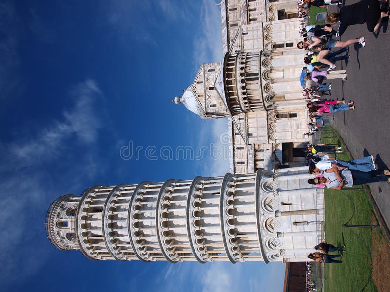 Tower and cathedral, Piza, Italy royalty free stock image