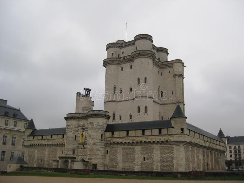 A tower in the Chateau de Vincennes in Paris royalty free stock photos