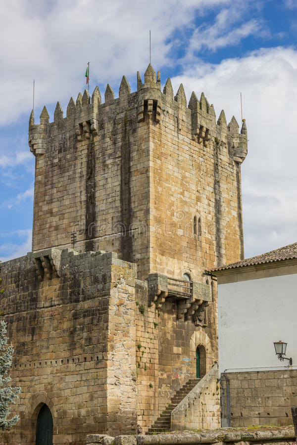 Tower of the Chaves castle. In Portugal stock image