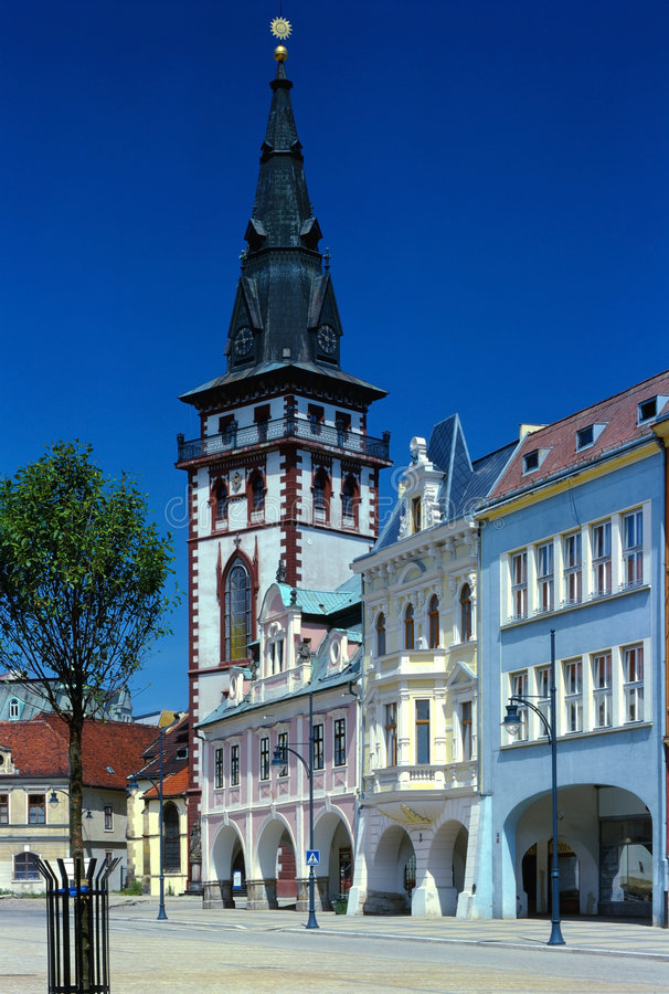 The tower in Chomutov royalty free stock photo
