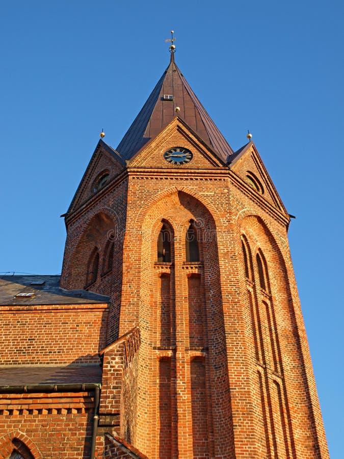 Tower of a church. Assens Denmark stock image