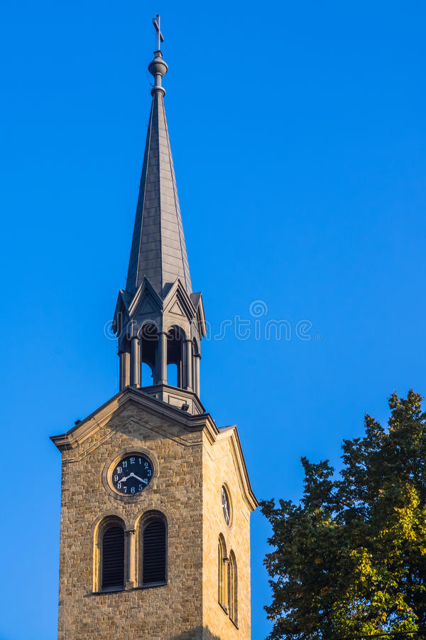Tower of the Church of the Resurrection of the Lord stock images