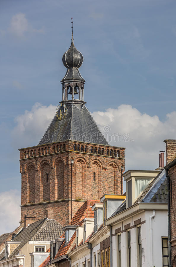 Tower of the city gate of Culemborg. Netherlands stock photo