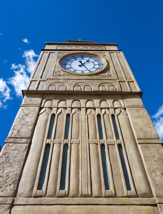 Download Tower with clock stock image. Image of blue, government - 26832725