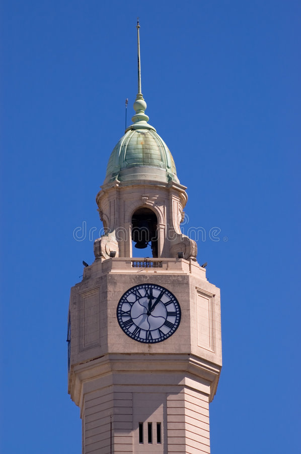 Download Tower Clock In Buenos Aires Stock Image - Image of tower, building: 5422835