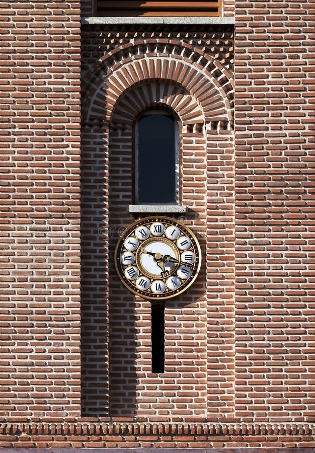 Tower clock - RAW format royalty free stock photos