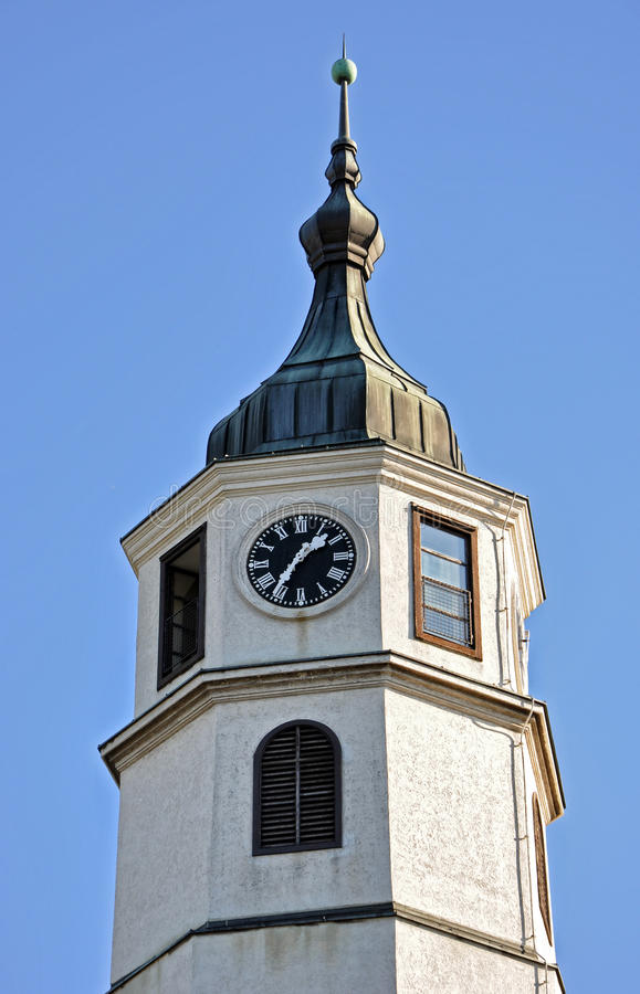 Tower clock. Fortress of Belgrade,Serbia royalty free stock images
