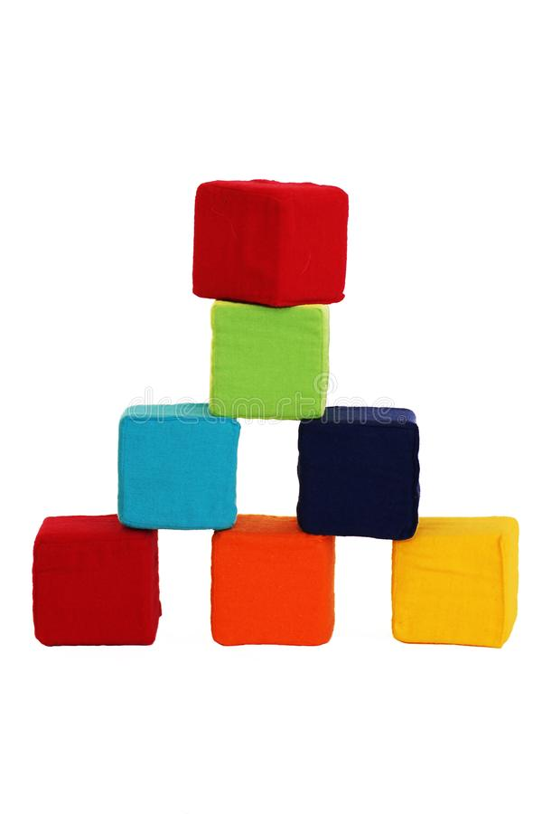 Tower of colored cubes