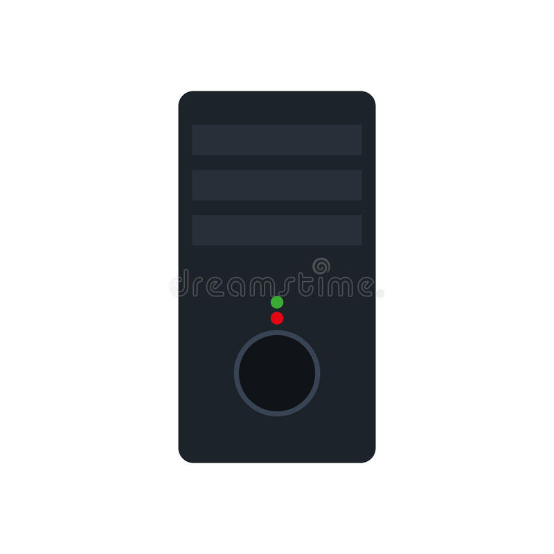 Tower cpu isolated icon royalty free illustration