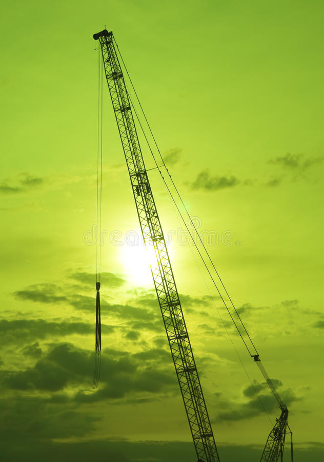 Download Tower Crane stock photo. Image of color, green, build - 10836228
