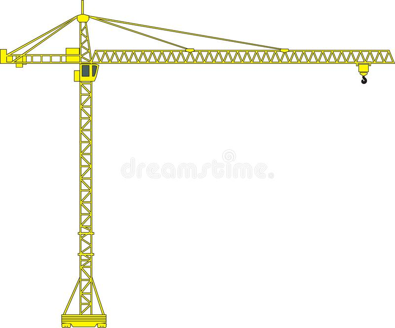 Download Tower crane stock vector. Illustration of rope, vector - 13058081