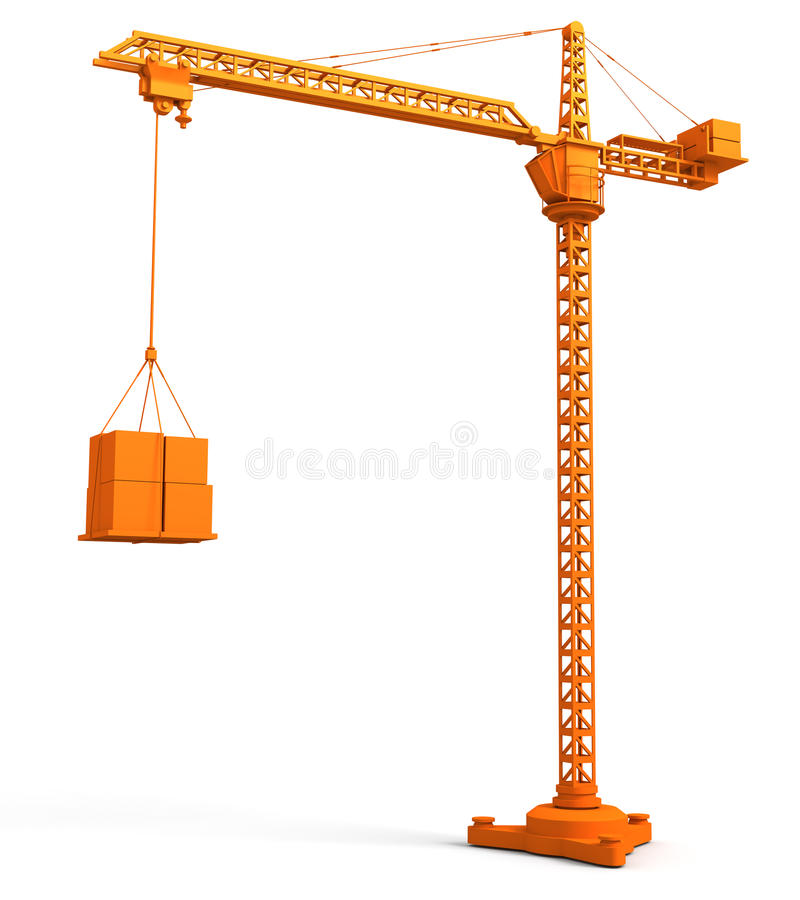 Tower Crane vector illustration