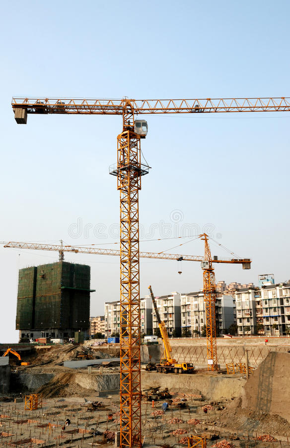 Download Tower crane stock image. Image of buildings, high, cement - 18064237