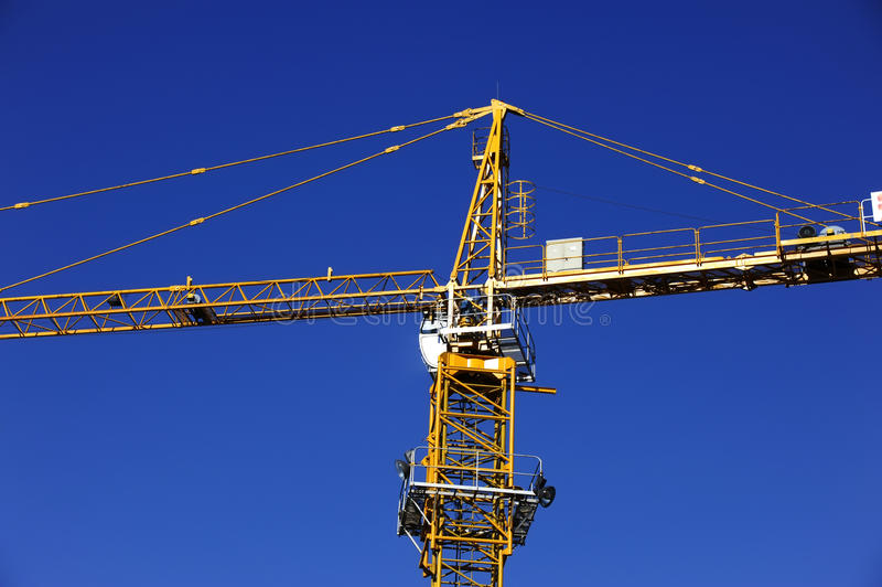 Download Tower crane stock photo. Image of construction, yellow - 21164062