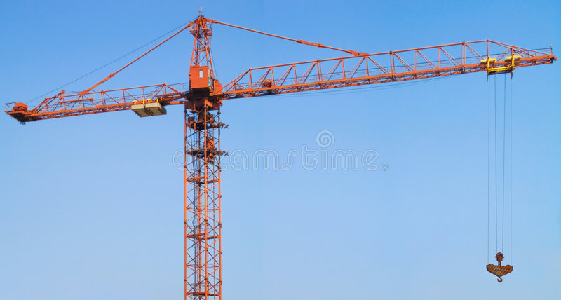 The tower crane royalty free stock photography