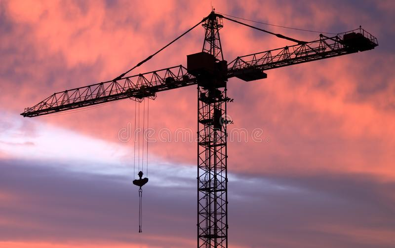 The tower crane stock images