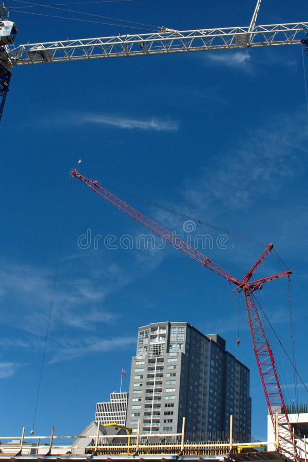 Construction site in downtown Nashville stock photography