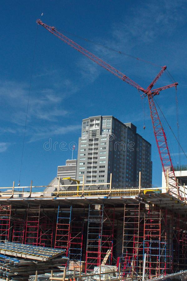 Construction site in downtown Nashville royalty free stock image