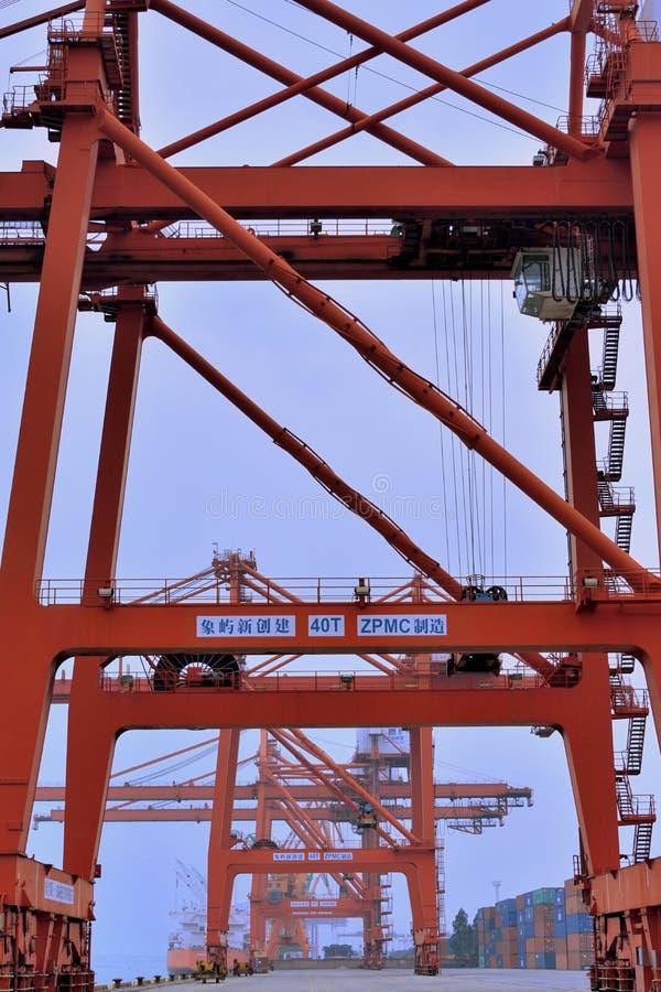 Tower Crane On Dock, Xiamen, Fujian, China Editorial Stock Image