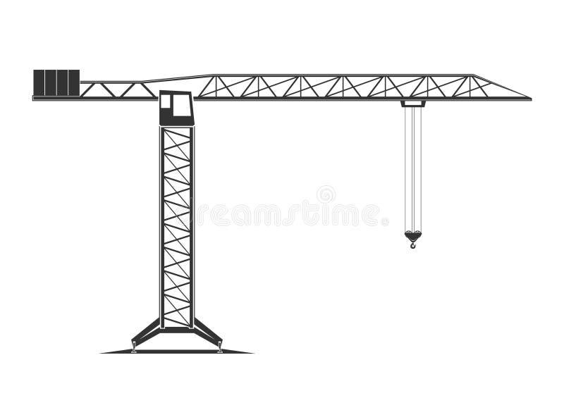 Tower crane icon stock image
