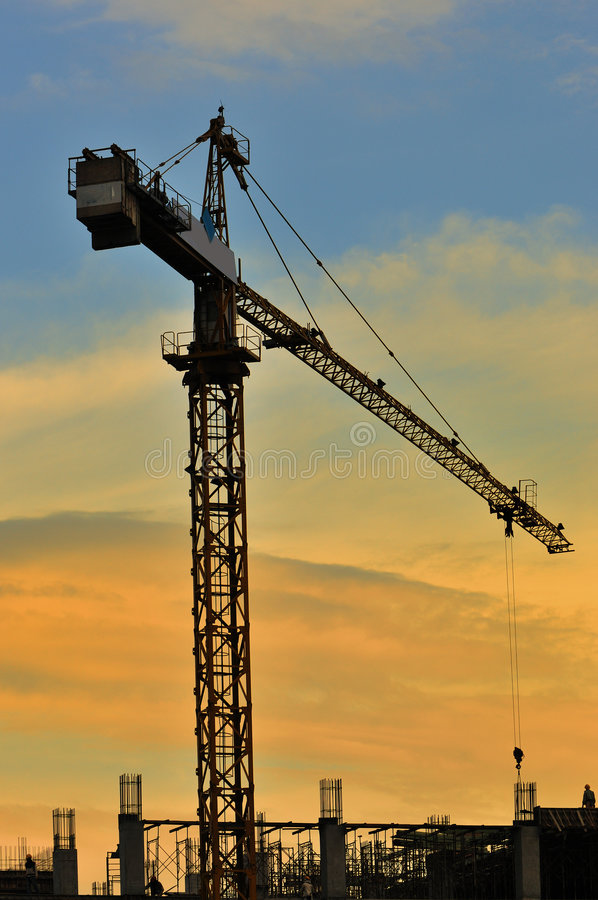 Download Tower Crane Series III stock image. Image of tower, sunset - 5737091