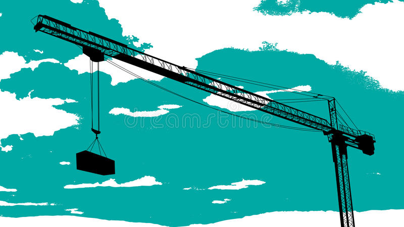 Download Tower Crane Sketch Royalty Free Stock Image - Image: 28019306