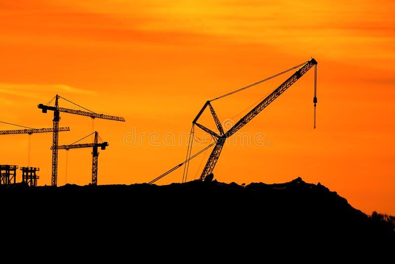 Download Tower Cranes stock image. Image of dark, development - 24520601