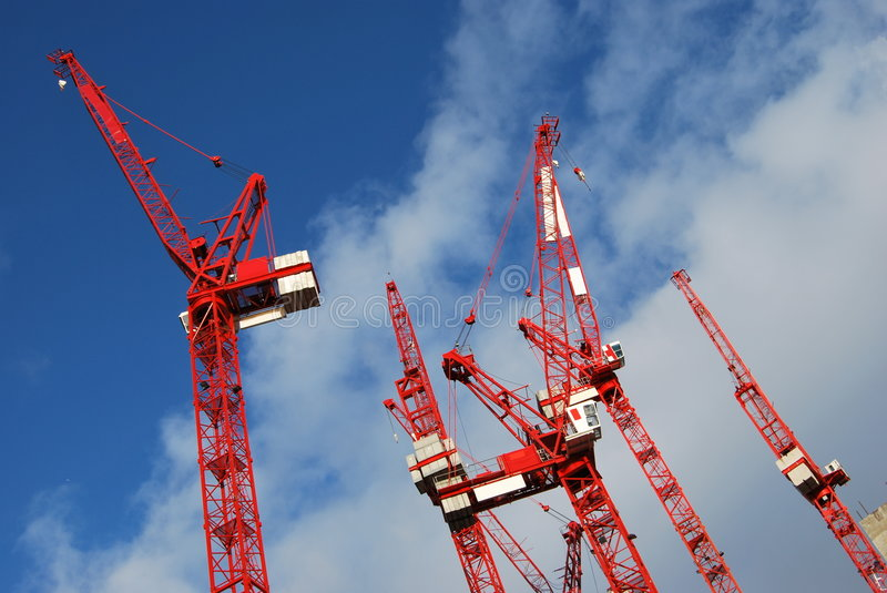 Tower cranes royalty free stock image