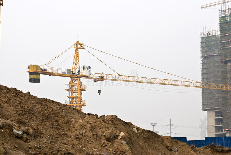 Download Tower Cranes At Busy Construction Site Stock Photo - Image: 13874000
