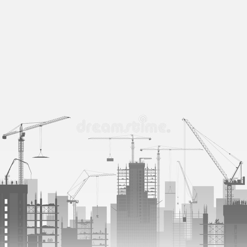 Tower Cranes stock illustration