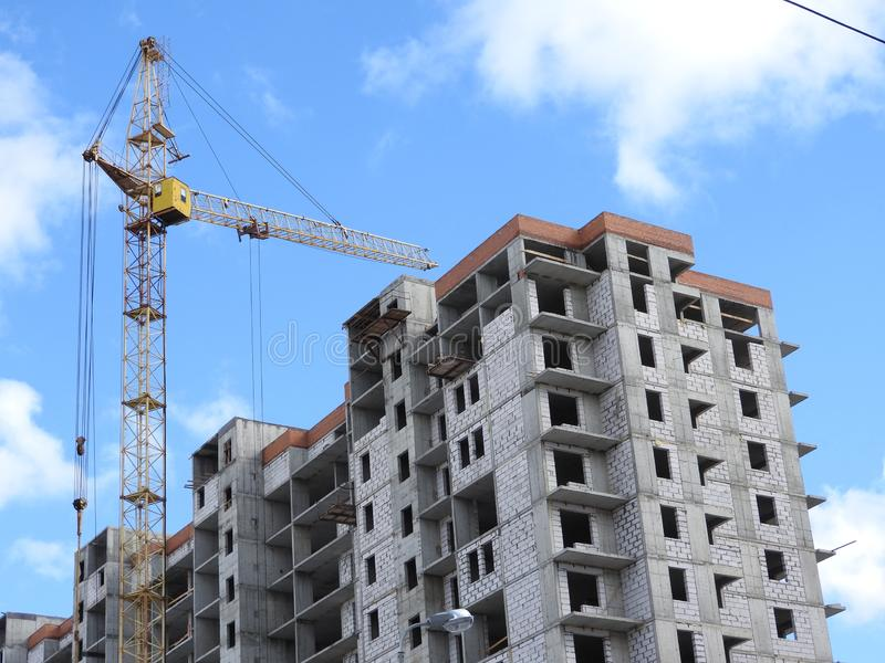 Tower Cranes And Their Parts, Construction Of A New House Stock