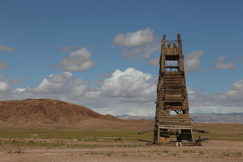 Tower for decoration film Gladiator stock image