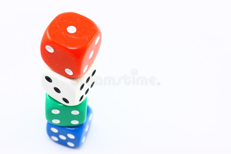 Download Tower Of Dice stock photo. Image of green, colour, gambling - 12435856
