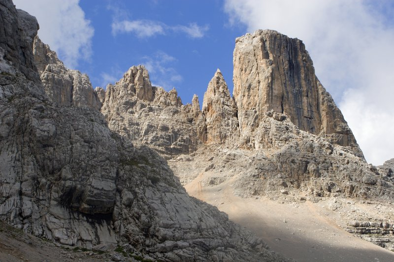 Tower in dolomite royalty free stock photos