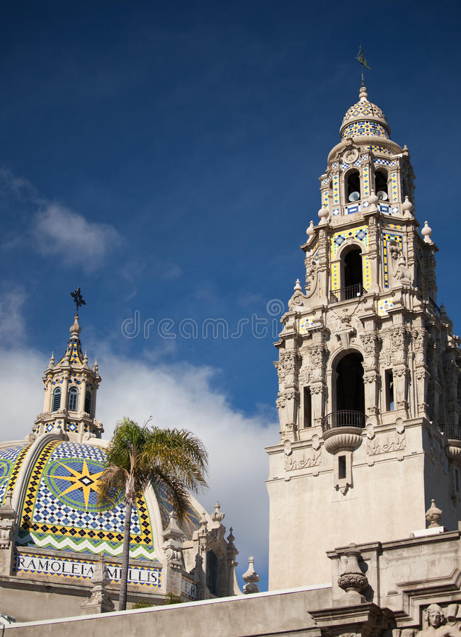 The Tower and Dome at Balboa Park, San Diego royalty free stock images