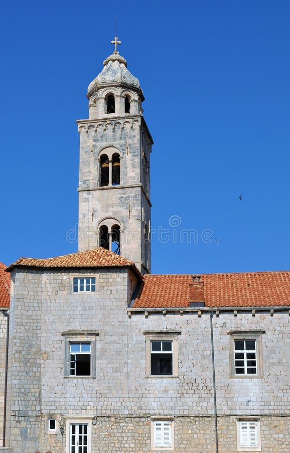 The tower at Dominican monastery stock photography