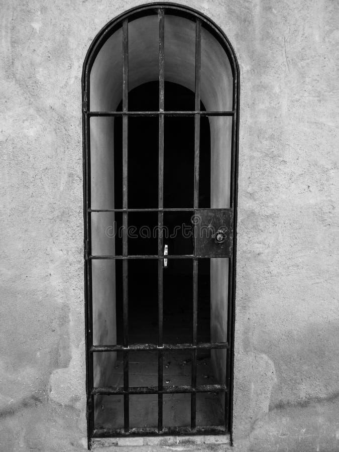 Tower door in the Alcazaba of Badajoz stock photography