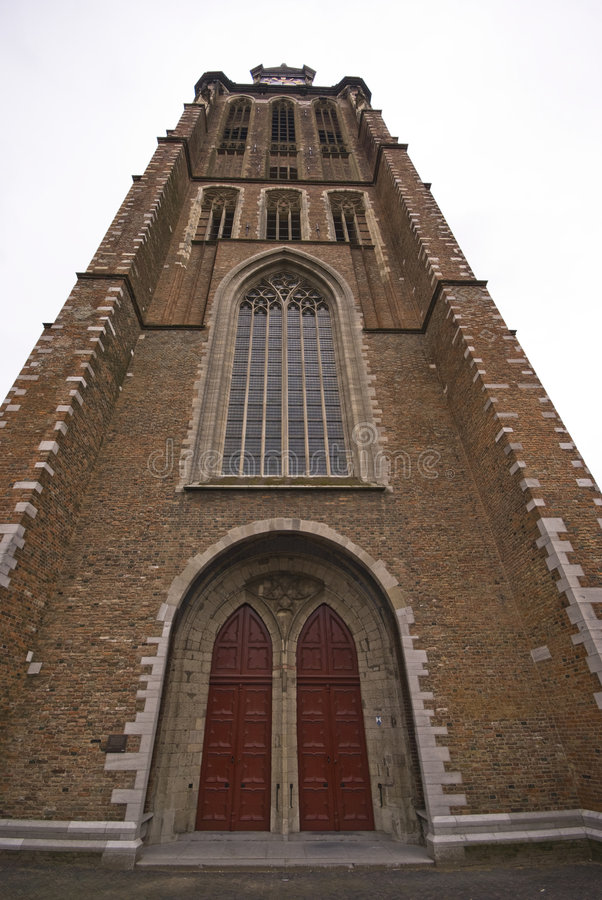 Download Tower of Dordrecht church stock photo. Image of holland - 8414894