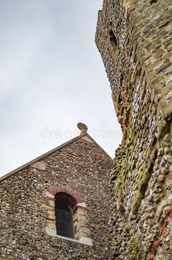 The tower of dover castle at kent uk royalty free stock image