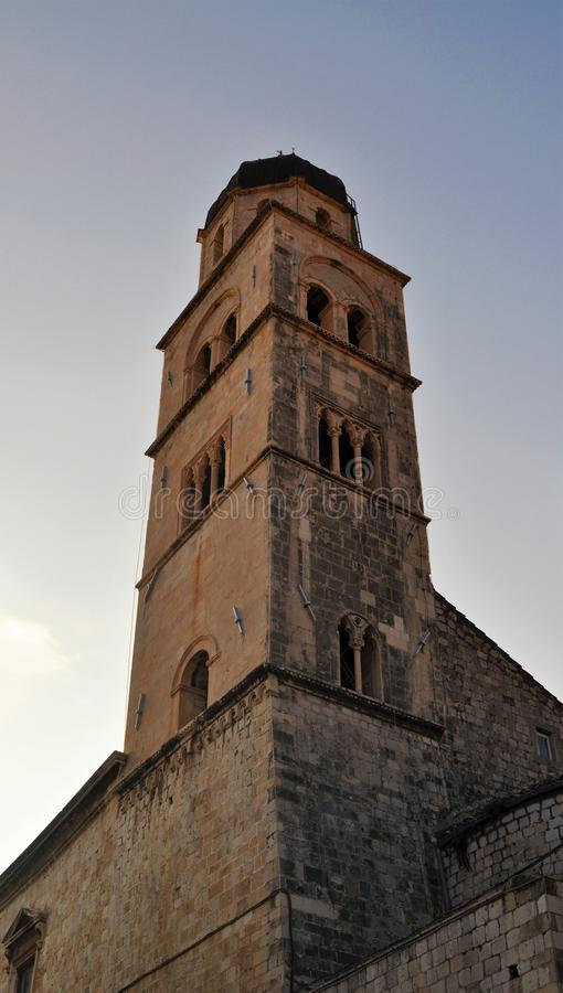The tower at dusk - Franciscan Church and Monastery stock images