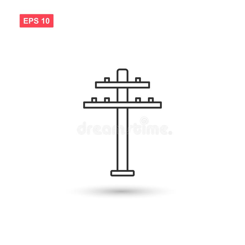 Free Tower Electricity Icon Vector Isolated 2 Stock Image - 141288651