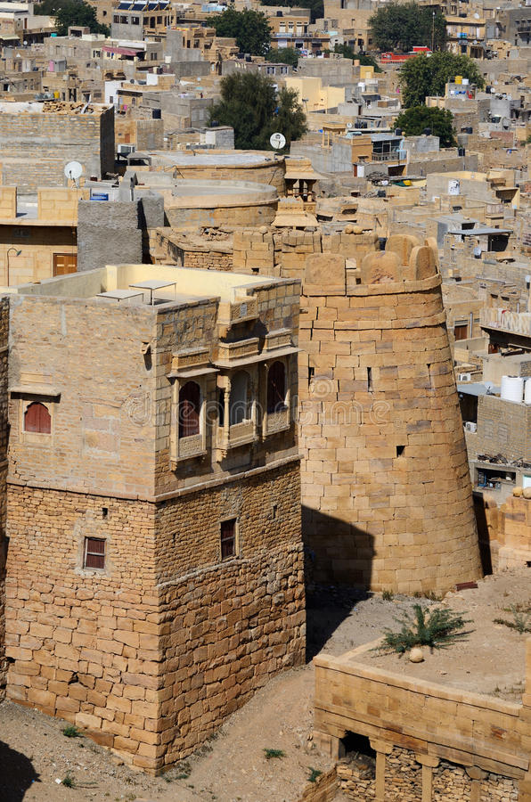 Download Tower Of Famous Jaisalmer Fortress, Thar Desert,India Stock Image - Image: 36565835