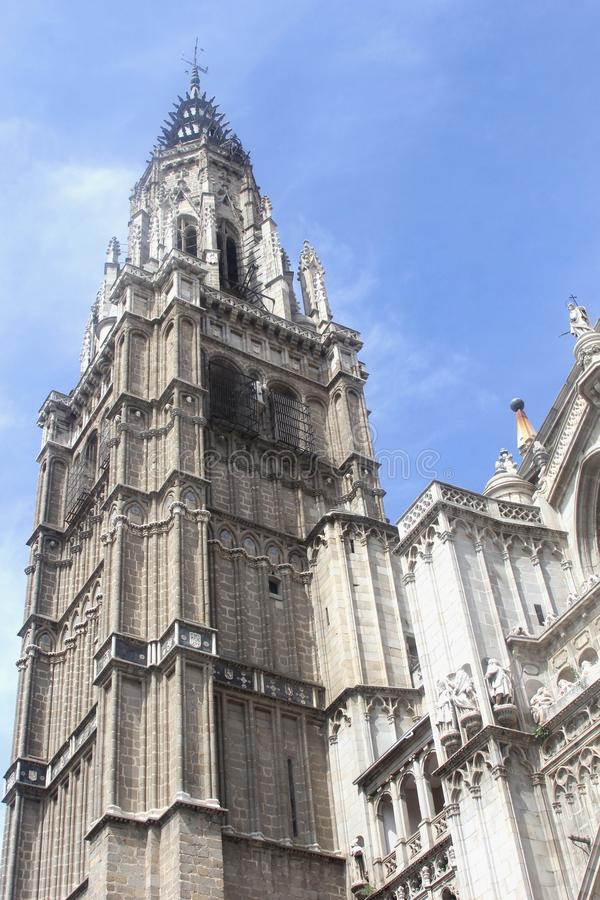 famous cathedral of saint mary toledo spain europe stock image