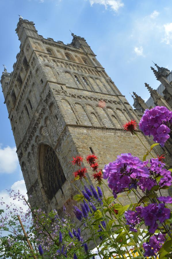 Tower and flowers royalty free stock photo
