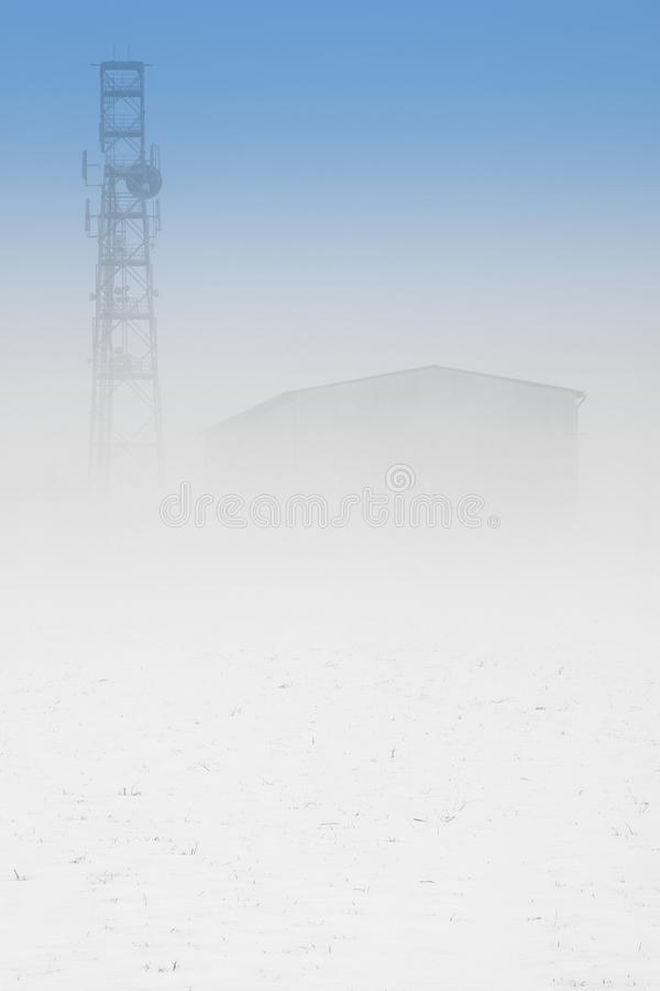 Download Tower in fog stock image. Image of background, mysterious - 12353183