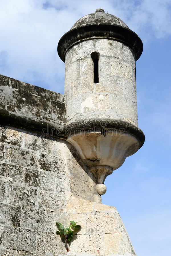 Tower of a fort at Old Havana. On Cuba royalty free stock image