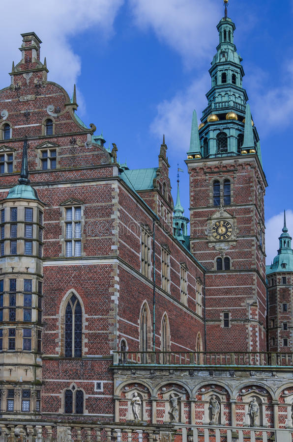 Tower of Frederiksborg Palace, Denmark stock image