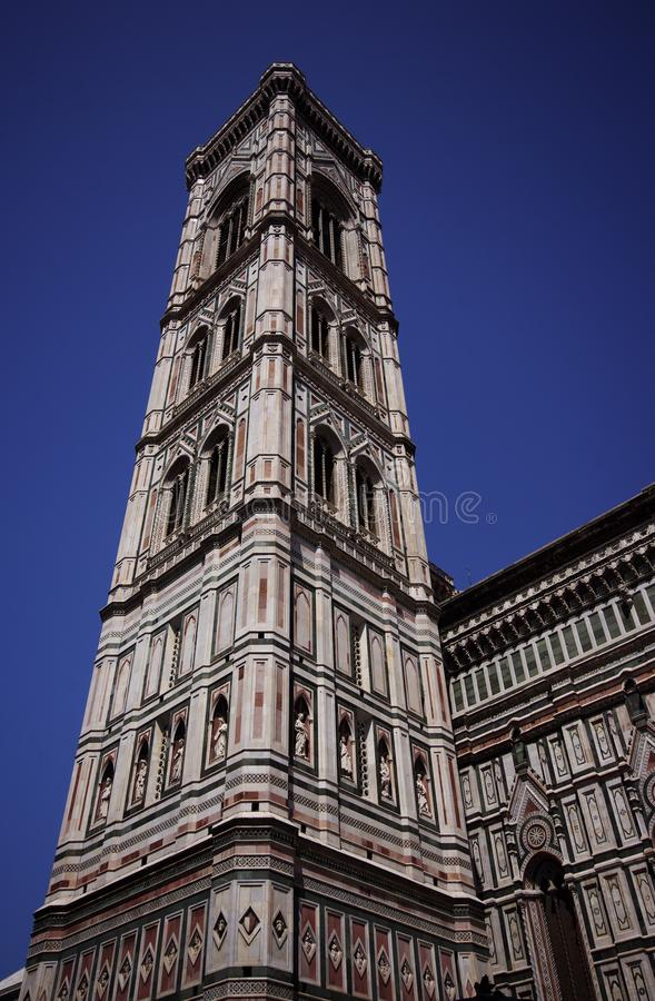 Tower of Giotto`s Campanile bell tower of the Basilica di Santa Florence, Italy stock images